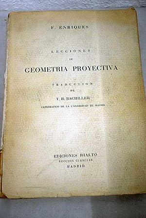 Lecciones de Geometría proyectiva: Enriques, Federigo