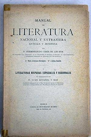 Manual de literatura nacional y extranjera, antigua: Giner de los