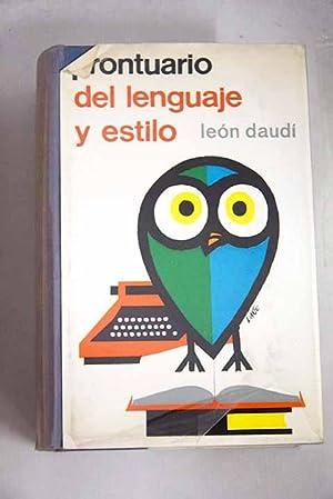 Prontuario del lenguaje y estilo: Daudi, León