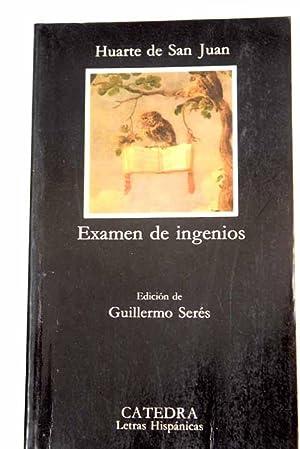 Examen de ingenios para las ciencias: Huarte de San