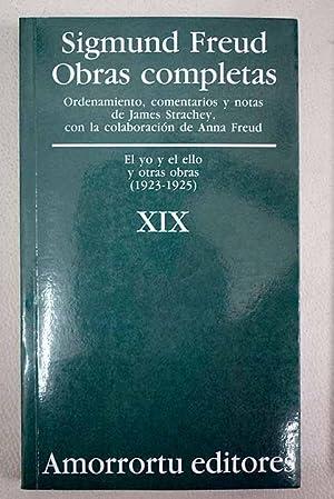 Obras completas, tomo XIX: Freud, Sigmund