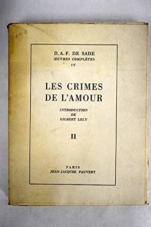 Les crimes de l'amour, tomo II