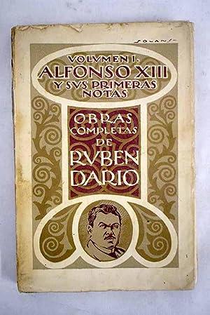Alfonso XIII y sus primeras notas: Darío, Rubén