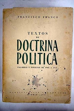 Resultado de imagen de FRANCO, Francisco, Textos de doctrina política. Palabras y escritos de 1945