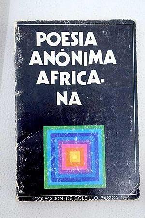 Poesía anónima africana