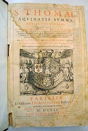 Aquinatis summa totius theologiae: Aquino, Santo Tomás