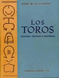 Los toros: Cossío, José María