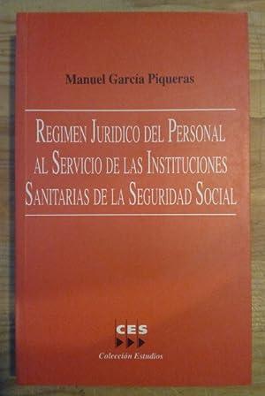 Régimen jurídico del personal al servicio de: García Piqueras, Manuel