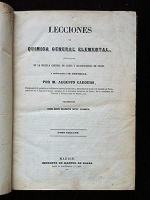 Lecciones de Química General Elemental, esplicadas en: Cahours, Augusto