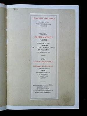 Codex Madrid. Codices de la Biblioteca Nacional: Vinci, Leonardo da