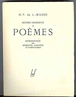 Oeuvres Completes 1: Poemes