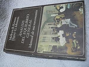 ANÁLISIS DEL EQUILIBRIO GENERAL. Manual de microeconomía.: Melvyn B. Krauss;