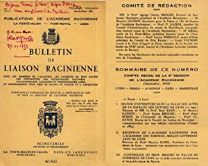 Bulletin de Liaison Racinienne / N° 1 (Janvier-Mars 1951): Broche Gaston-E. & Collectif