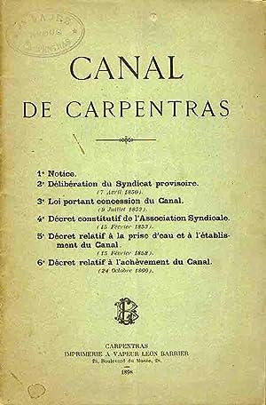 Canal de Carpentras (Textes Fondateurs): Collectif
