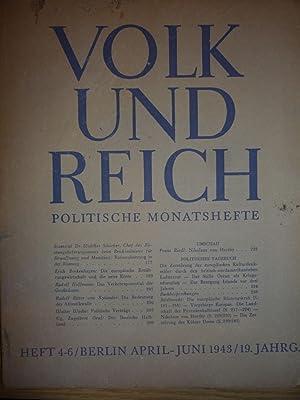 Volk und Reich politische monatshefte [Magazines]: Editor