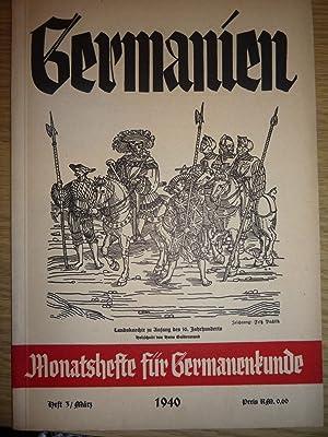 Germanien monatshefte fur Germanenkunde [Magazines]: Editor
