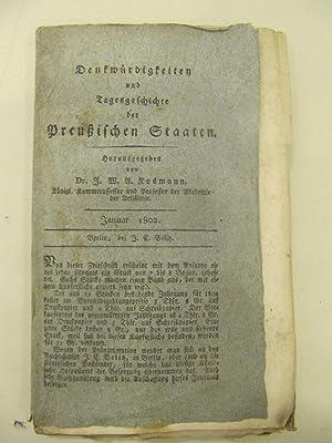 Denkmurdigkeiten und Tagesgeschichte der Preussischen Staaten [Magazines]: Editor
