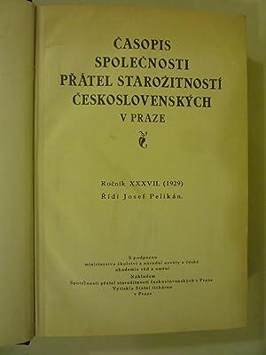 Casopis Spolecnosti Pratel Starozitnosti Ceskoslovenskych v Praze [Magazines]: Editor