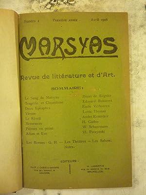Marsyas [Magazines]: Editor