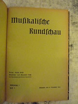 Musikalische Rundschau [Magazines]: Editor