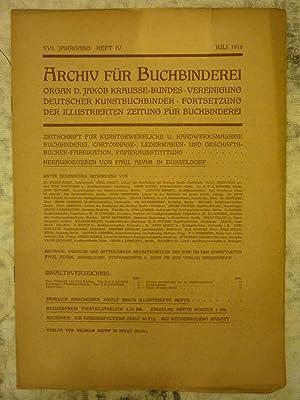 Archiv f?r Buchbinderei [Magazines]: Editor