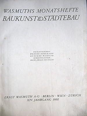 Wasmuths Monatshefte, Baukunst & St?dtebau [Magazines]: Editor