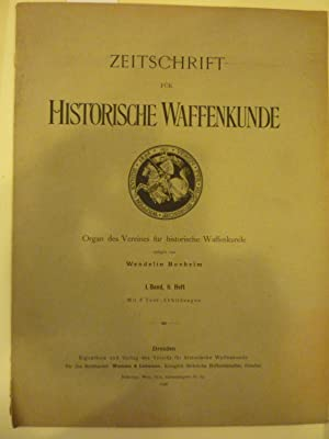 Zeitschrift fur Historische Waffenkunde [Magazines]: Editor