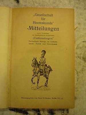 Gesellschaft für Heereskunde Mitteilungen/Zeitschrift Heereskunde [Magazines]: Editor