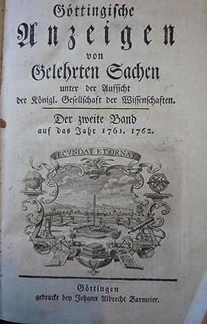 Gottingische Anzeigen von Gelehrten Sachen [Magazines]: Editor