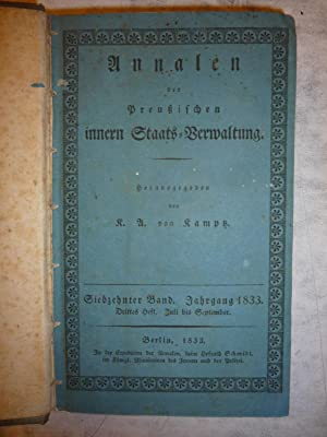 Annalen der Preussischen innern Staats-Verwaltung [Magazines]: Editor
