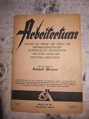 Arbeitertum. Bl?tter f?r theorie und praxis der Nationalsozialistischen [Magazines]: Editor