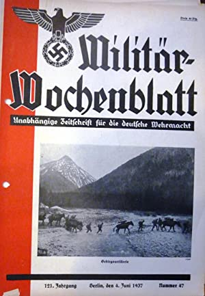 Militar Wochenblatt [Magazines]: Editor