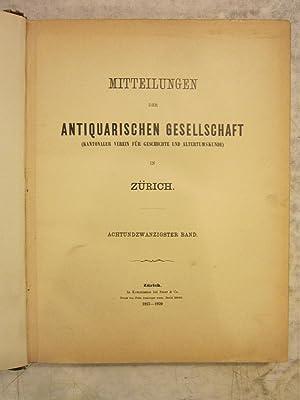 Mitteilungen der Antiquarischen Gesellschaft [Magazines]: Editor