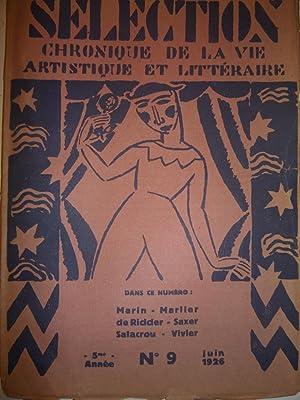 Selection. Chronique de la Vie Artistique et Litteraire [Magazines]: Editor