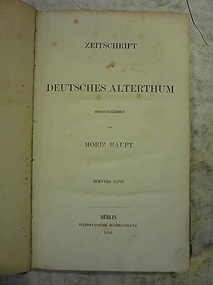 Zeitschrift fur Deutsches Alterthum [Magazines]: Editor