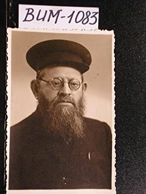JUDAICA. Old photograph b/w picture of a Jew: Editor