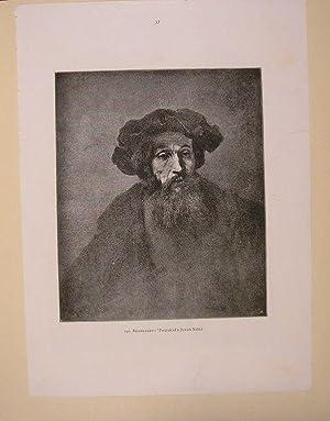 JUDAICA. Postcard Rembrandt Rabbi portrait. .: Editor