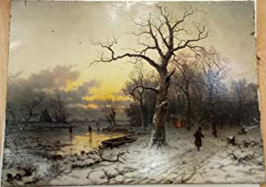 The Winter Lake. Painting Art Russia: n/a