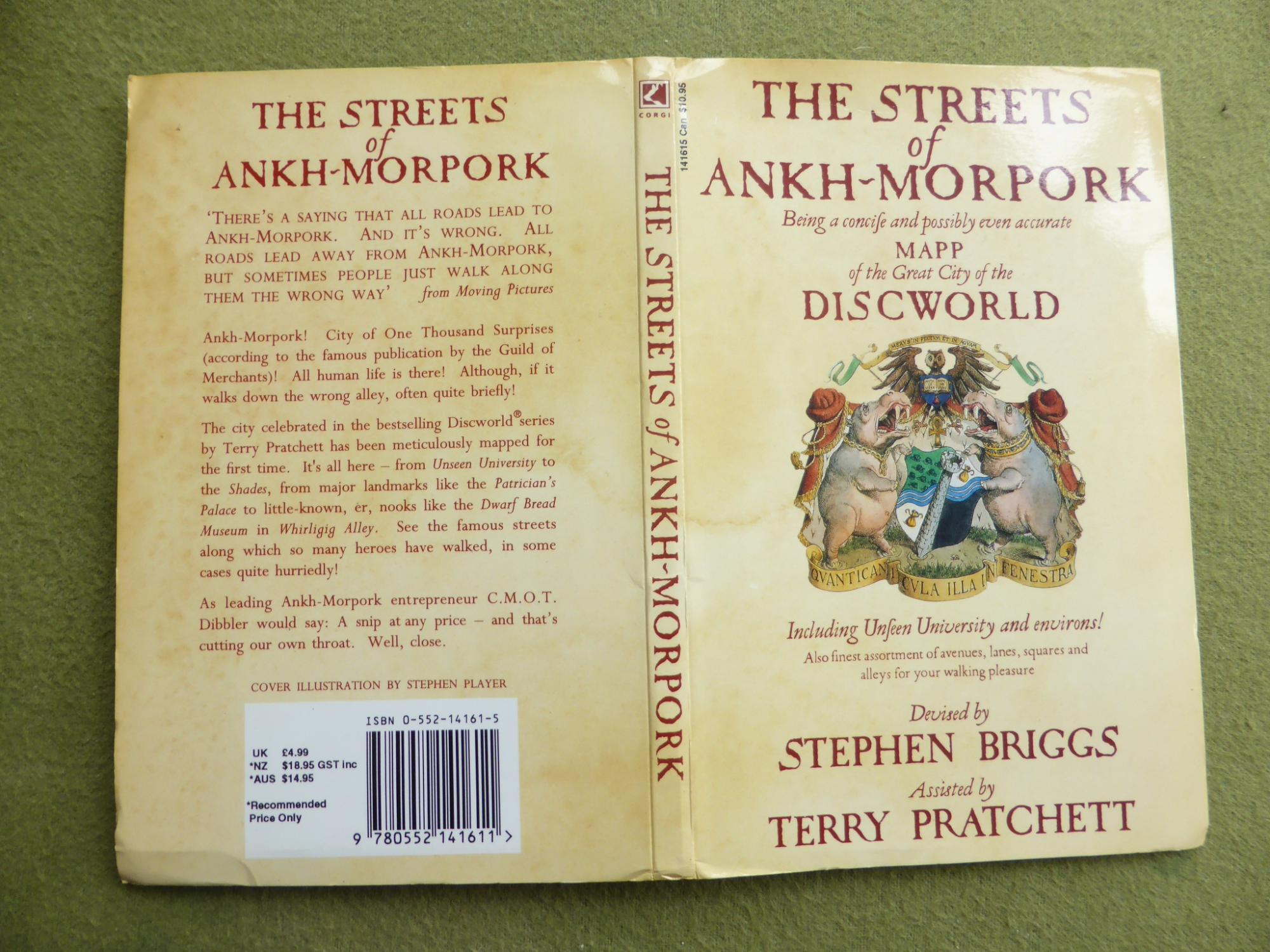 Disc World Map.The Streets Of Ankh Morpork Discworld Map Very Signed First