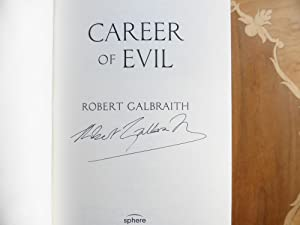 Career of Evil A Cormoran Strike Novel: MINT SIGNED FIRST EDITION with VARIANT DUST WRAPPER: Robert...