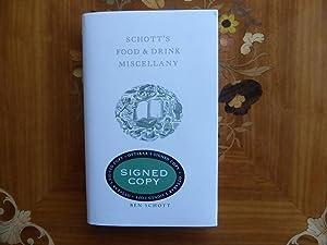 Schott's Food and Drink Miscellany: VERY FINE: Ben Schott