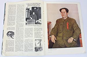 Ogonek, Russian Magazine, 1953 featuring Chairman Mao and Qi Baishi, article and colour images: ...