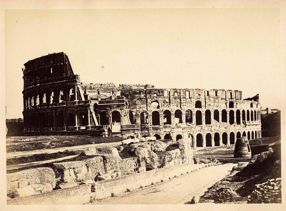Photograph Rome Colosseum Vintage oversized albumen ph. 24 cef96883853