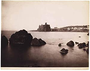 Acicastello Sicily Catania Large vintage original albumen photo 1880c Incorpora