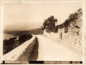 Photograph Taormina Sicily a sunny Spring day Crupi friend of Von Gloeden 1890c Large photo