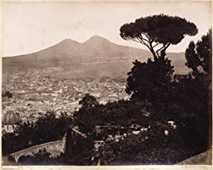 Naples Panorama from St Martino 1870c Large vintage albumen George Sommer Napoli