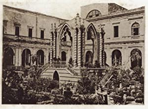 Catania Sicily Cloister of the Benedictines Original collotype 1891