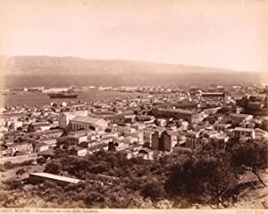 Photograph 10977. Messina Sicily Panorama Excellent Large albumen photo 1890c Giacomo Brogi