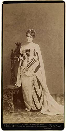Photograph Rome Young woman Unusual Cabinet oversized: Henri Le Lieure