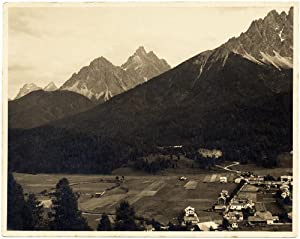 Luciano Morpurgo Mountain Alps Original vintage silver photo warmtone 1940 L293